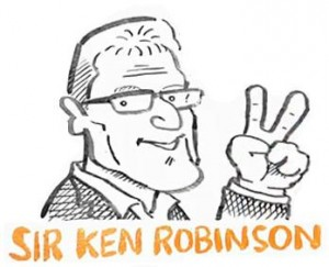 Sketch of Sir Ken Robinson