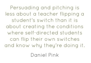Sometimes teaching is a bit like selling! Through effective motivational strategies, we can help to flip that switch!