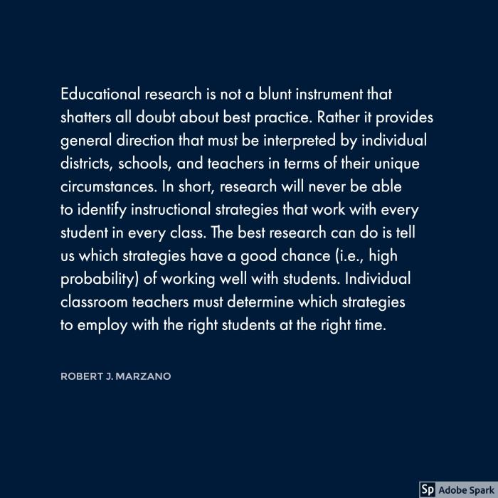 Marzano on Research