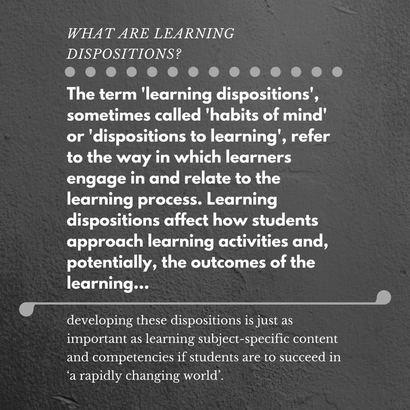 What are learning dispositions-