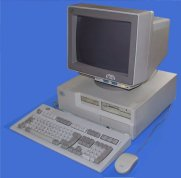 """So... This is what the first computer that we owned looked like. It had a 3.5"""" and 5.25"""" floppy disk slot!"""