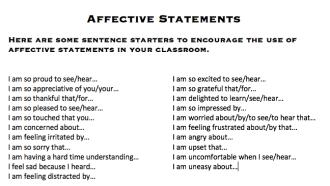 Affective Statements